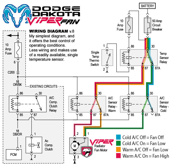 viperwiring8 electric fan gurus needed dakota durango forum 2006 dodge dakota wiring diagram at webbmarketing.co